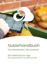 Titelseite Nutzerhandbuch autemio Bondrucker und TSE